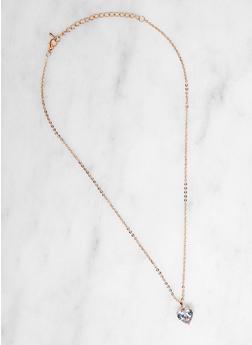 Heart Cubic Zirconia Necklace - 3138071430211