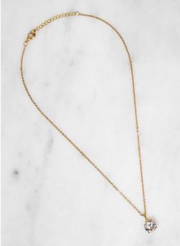 Round Cubic Zirconia Necklace - 3138071431204