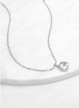 Cubic Zirconia Pendant Necklace | 12 MM - 3138071434212