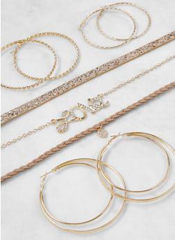 Assorted Chokers and Hoop Earrings Set - 3138072694715