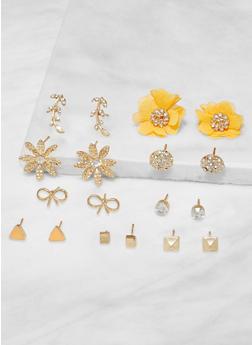 Set of Assorted Stud Earrings - 3138073849779