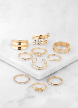 Set of Assorted Rhinestone Rings | 3138074890420 - 3138074890420