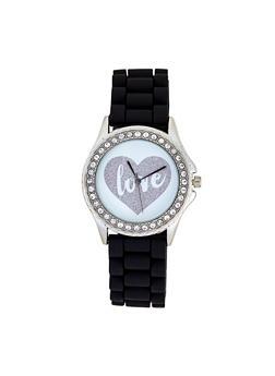 Glitter Love Heart Face Watch - 3140007008887
