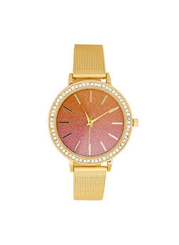 Metallic Mesh Ombre Face Watch - 3140007008898