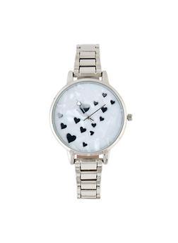 Mini Heart Face Metallic Link Watch - 3140007009211