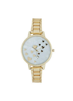 Mini Heart Face Metallic Link Watch - 3140007009211