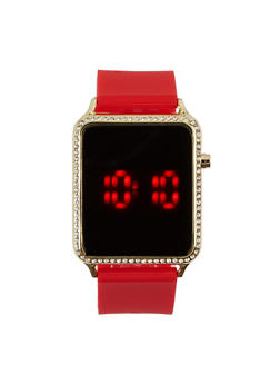 Rhinestone Square Watch - 3140048993177