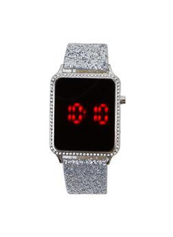 Glitter Strap LED Watch - 3140048994808