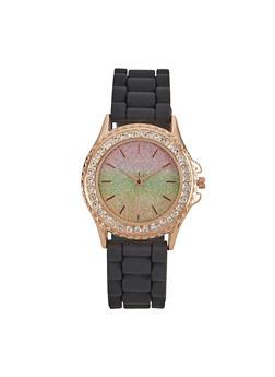 Glitter Face Rhinestone Watch - 3140048995954