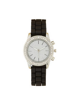 Glitter Face Silicone Watch - 3140071430249