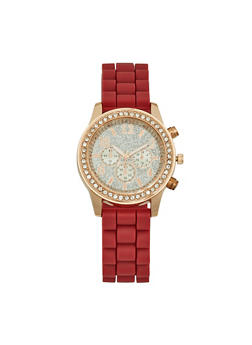 Glitter Face Silicone Watch - 3140071430321