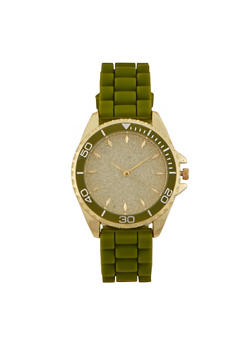 Glitter Face Silicone Watch - 3140071430392