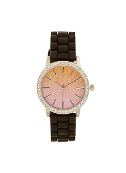 Ombre Glitter Silicone Watch - 3140071430478