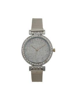 Thin Metallic Mesh Glitter Watch - 3140071430851