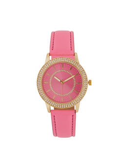 Neon Faux Leather Watch - 3140071431336