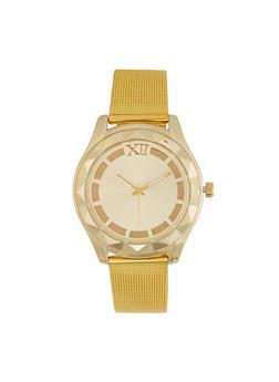 Metallic Mesh Strap Watch - 3140071432514