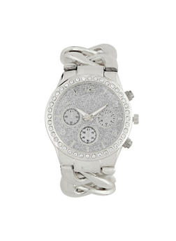 Glitter Face Chain Link Watch - 3140071432548