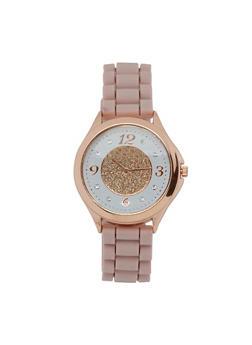 Glitter Face Rubber Watch - 3140071432958