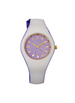 Glitter Two Tone Watch - VIOLET - 3140071432967