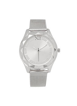 Metallic Mesh Strap Watch - 3140071433048