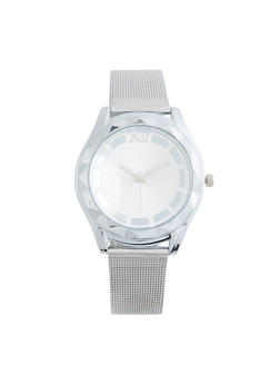 Metallic Mesh Watch - SILVER - 3140071433147