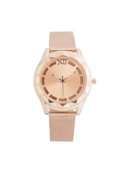 Metallic Mesh Watch - ROSE - 3140071433147
