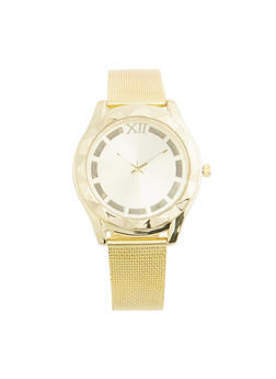 Metallic Mesh Watch - GOLD - 3140071433147