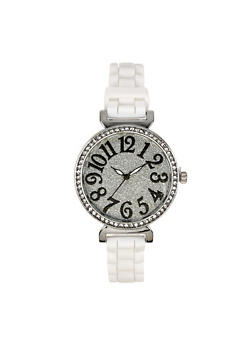 Glitter Face Silicone Watch | 3140071433236 - 3140071433236