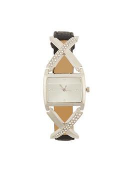 Rhinestone X Watch - 3140071434032