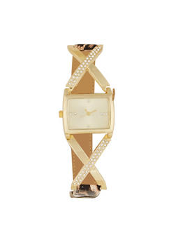 Rhinestone X Watch - 3140071434032