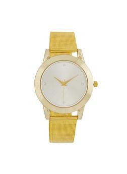 Metallic Mesh Watch - 3140071434789