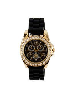 Rhinestone Bezel Watch   3140071434854 - 3140071434854