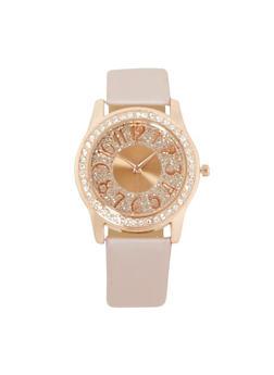 Glitter Rhinestone Watch - 3140071435131