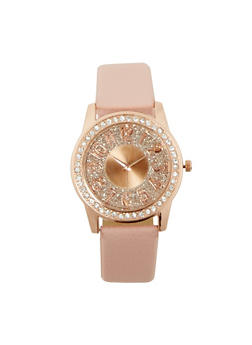 Glitter Rhinestone Watch - 3140071435131