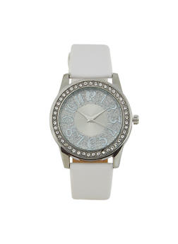 Glitter Face Faux Leather Watch | 3140071435153 - 3140071435153