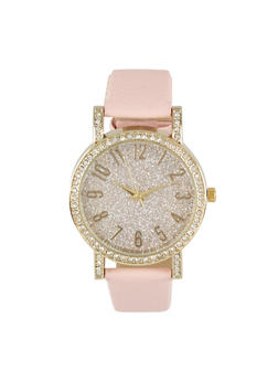 Glitter Rhinestone Watch - 3140071435237