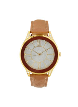 Glitter Face Faux Leather Watch | 3140071435475 - 3140071435475