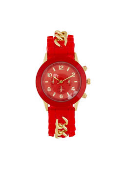 Chain Insert Silicone Watch - 3140071437229