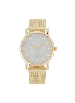 Glitter Face Metallic Mesh Watch | 3140071438187 - 3140071438187