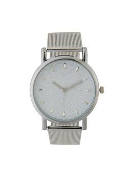 Glitter Metallic Mesh Strap Watch - 3140071438489