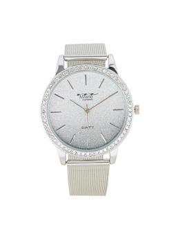 Glitter Rhinestone Bezel Watch - 3140072186833