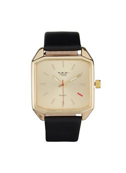 Metallic Square Face Watch - 3140072187103