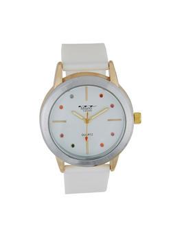 Multi Color Rhinestone Watch - 3140072187191