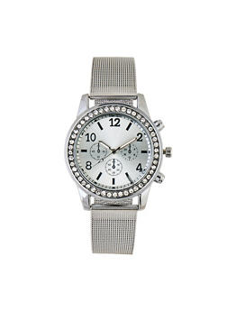 Metallic Mesh Rhinestone Watch | 3140072693281 - 3140072693281