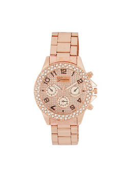 Rhinestone Bezel Watch - 3140072693648