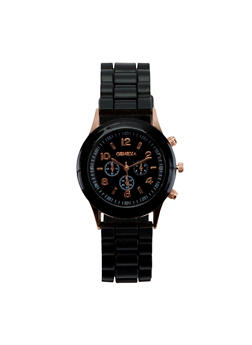 Colored Silicone Watch - BLACK - 3140073843407