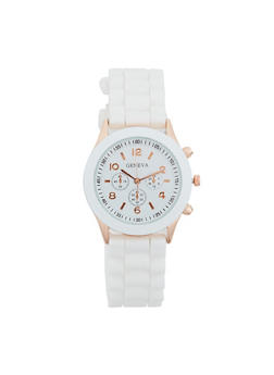 Colored Silicone Watch - WHITE - 3140073843407