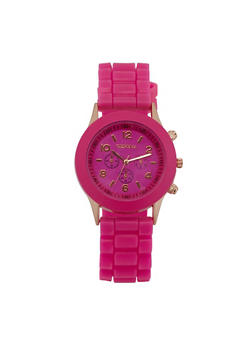 Colored Silicone Watch - BLUSH - 3140073843407