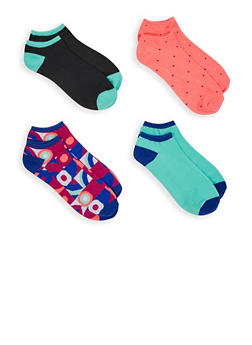 Pack of 4 Assorted Ankle Socks - 3143041451418