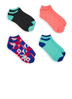Pack of 4 Assorted Ankle Socks - 3143041451419